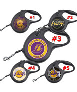 LA Lakers Los Angeles Retractable Dog Leash tangle free upto 110 lb pet ... - $22.30+