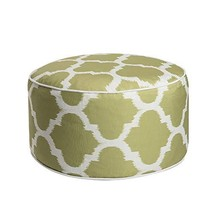 Art Leon Outdoor Inflatable Ottoman Grass Green Round Patio Footstool fo... - $21.57