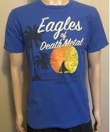 Eagles of Death Metal Band Concert Short Sleeve Shirt Medium Royal Blue ... - $19.34