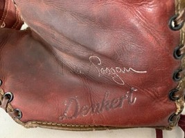 Denkert Vintage Baseball Glove Collectible 1st Baseman Mitt Model ST3 - $46.45
