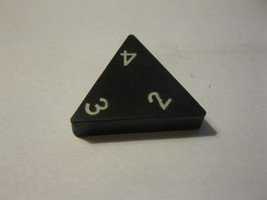 1985 Tri-ominoes Board Game Piece: Triangle # 2-3-4 - $1.00