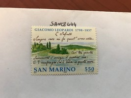 San Marino Giacomo Leopardi 550 lira mnh 1998  stamps - $1.00