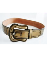 Fendi Metallic Copper Leather Waist Belt - $110.00