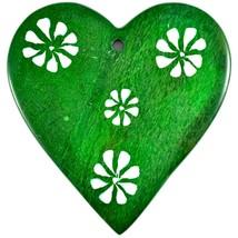 Tabaka Chigware Hand Carved Kisii Soapstone Green Heart Stone Ornament image 2