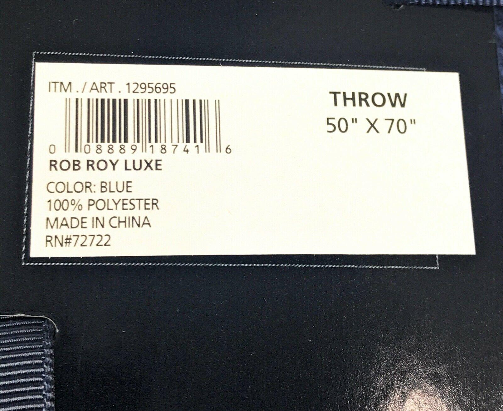 """Pendleton Rob Roy Luxe 100% Polyester 50""""x70"""" Throw Blanket Blue Plaid NWT image 4"""