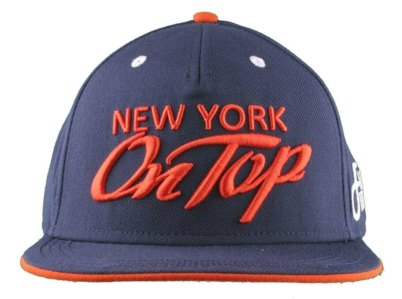 Flat Fitty New York Su Top Navy Arancione Wiz Khalifa Cappellino Baseball Nwt