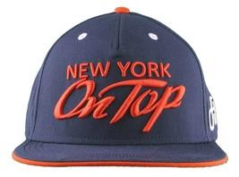 Flat Fitty New York Su Top Navy Arancione Wiz Khalifa Cappellino Baseball Nwt image 1