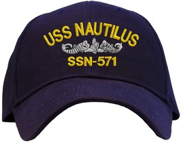 USS Nautilus SSN-571 Embroidered Baseball Cap - Available in 6 Colors - Hat - $25.95