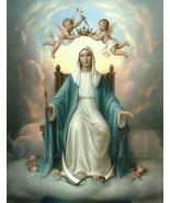 8.5X11 Mary Jesus Mother Picture New Fine Art Poster Print God Angel Bib... - $12.16