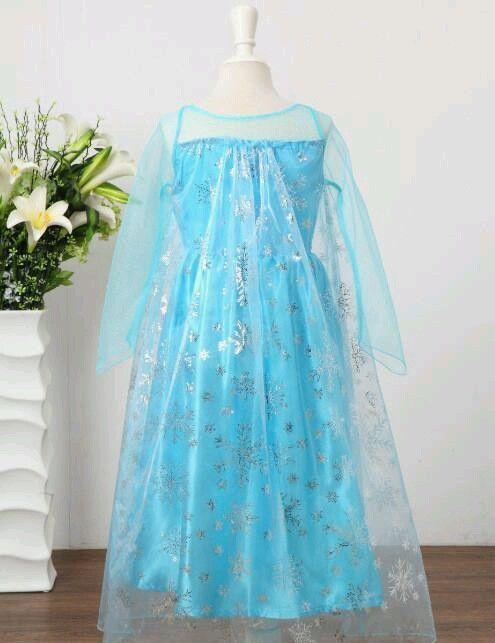 Frozen Elsa Costume Dress - size 4/5 Ships from US
