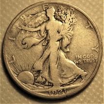 1921-s Liberty Walking Half Dollar. Rare semi-key date! - $90.00