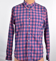 American Eagle Mens 16-32 M Plaid Checks Collared L/S Button Front Dress... - $15.95