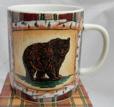 Department 56 Mug S Campground Grizzly Bear Birch Tent Plaid Cabin Lodge Coffee - $15.98