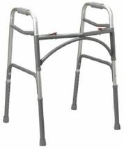 Bariatric Steel Folding Walker, Heavy Duty Adult Walker Dual Release Adj... - $85.09