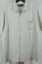 Nat Nast Luxury Originals Men's Beiger Striped Silk Casual Shirt XXL 2XL - $35.99