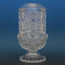 Vintage Fenton Art Glass Crystal Fine Cut and Block Fairy Light c1981