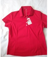 Women's Nike Golf,Fit-Dry Red short sleeve, button down neckline polo si... - $9.49