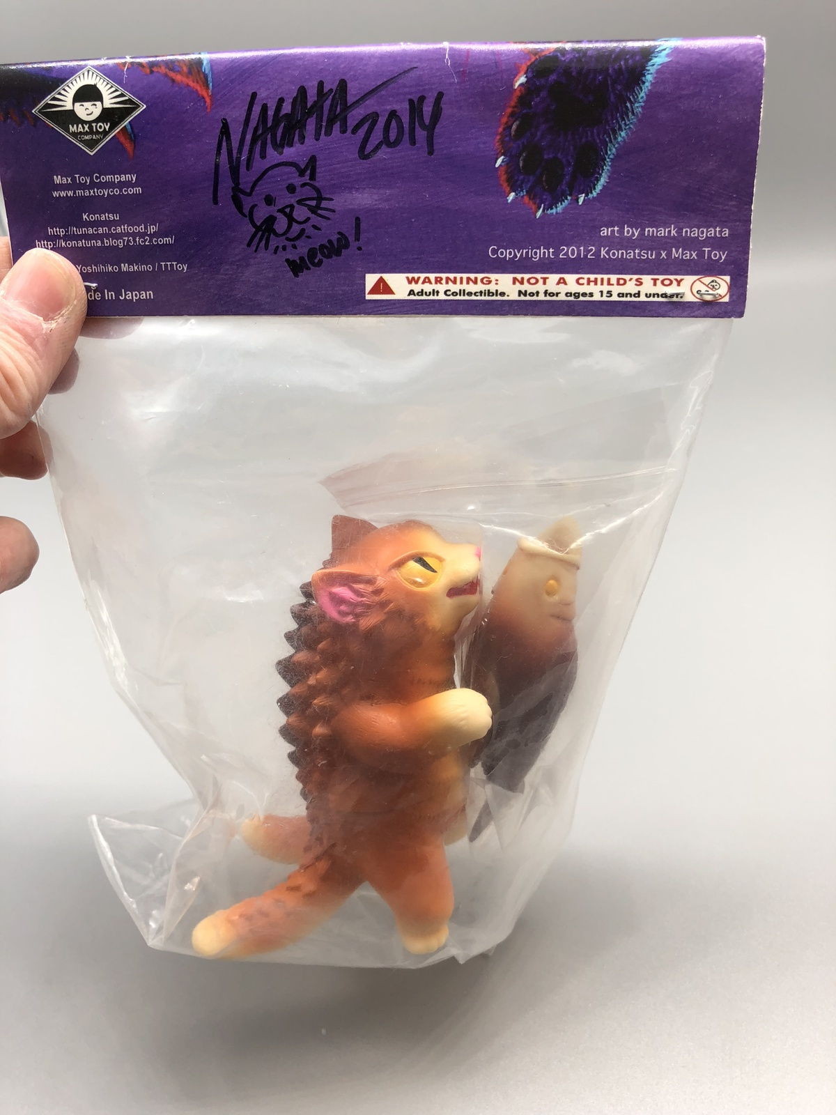 Max Toy Pancake Negora Mint in Bag - Signed by Mark Nagata