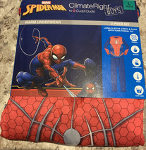 NWT Marvel Comics Spider-Man Thermal Warm Underwear 2 Piece Set Boys sz L(10-12) - $12.60