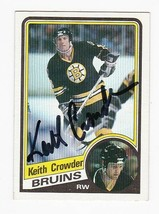 KEN CROWDER AUTOGRAPHED CARD 1984-85 TOPPS BOSTON BRUINS - $3.98