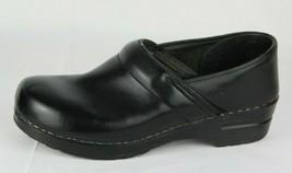Dansko women's shoes black leather clogs professional nursing medical size 41 - $39.49