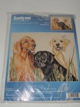 "Janlynn Cross Stitch Kit - Retriever Dogs  - #58-05 - 16"" x 12"" Unopened - $18.69"
