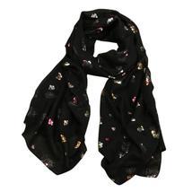 Women New Foil Gold Butterfly Scarf Long Wrap Summer Thin - $17.72+