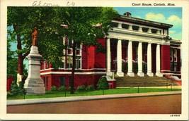 Vtg Linen Postcard Mississippi MS Corinth Court House Building UNP - $8.95