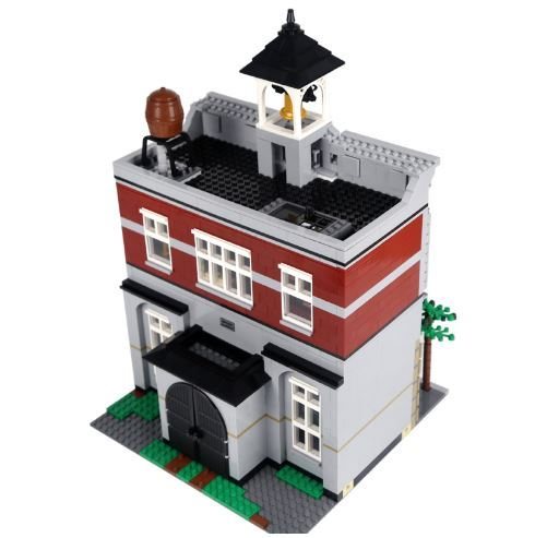 City Fire Brigade Building Blocks (compatible Lego 10197)