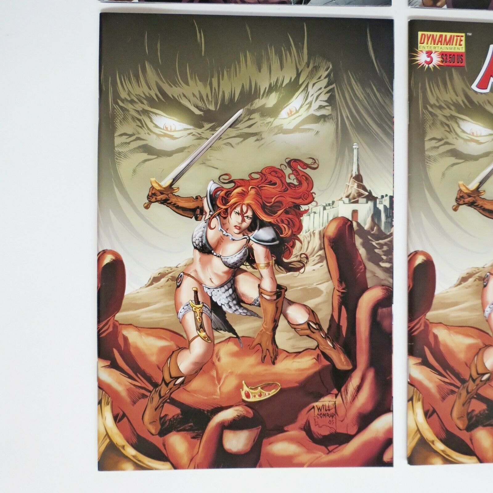 RED SONJA VS. THULSA DOOM 3,4 Will Conrad VIRGIN Incentive Cover (1:10) 2006