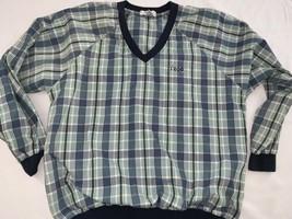 Vintage Izod Plaid 90s Windbreaker Jacket Pullover Mens Medium Golf Retr... - $18.99