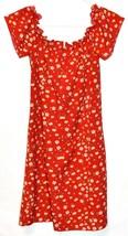 Shein Women's Red Floral Ruffle Zipper Back Sundress Sun Dress Size M image 2