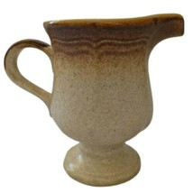 Mikasa Whole Wheat Creamer Pitcher Footed Tan Fade Ombre Vintage 70s Cer... - $9.99