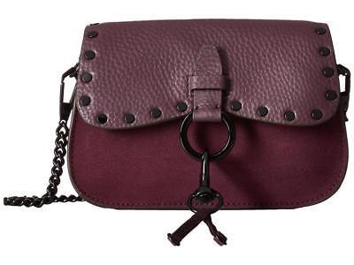 Rebecca Minkoff KEITH Small Saddle Bag Crossbody Dark Cherry Leather/Nubuck -NWT
