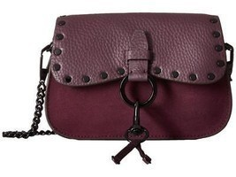 Rebecca Minkoff KEITH Small Saddle Bag Crossbody Dark Cherry Leather/Nub... - ₨11,265.47 INR