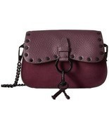 Rebecca Minkoff KEITH Small Saddle Bag Crossbody Dark Cherry Leather/Nub... - $209.43 CAD