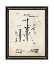Fishing Appliance Patent Print Old Look with Black Wood Frame - $24.95+