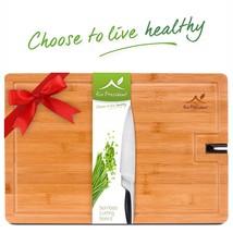 XL Bamboo Cutting Board Large Chopping Wood Kitchen Butcher Block Knife ... - $13.03