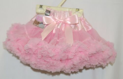 Ruffle Butts Pink Frilly Fluffy Chiffon Ruffles Pettiskirt Size 12 to 24 Months