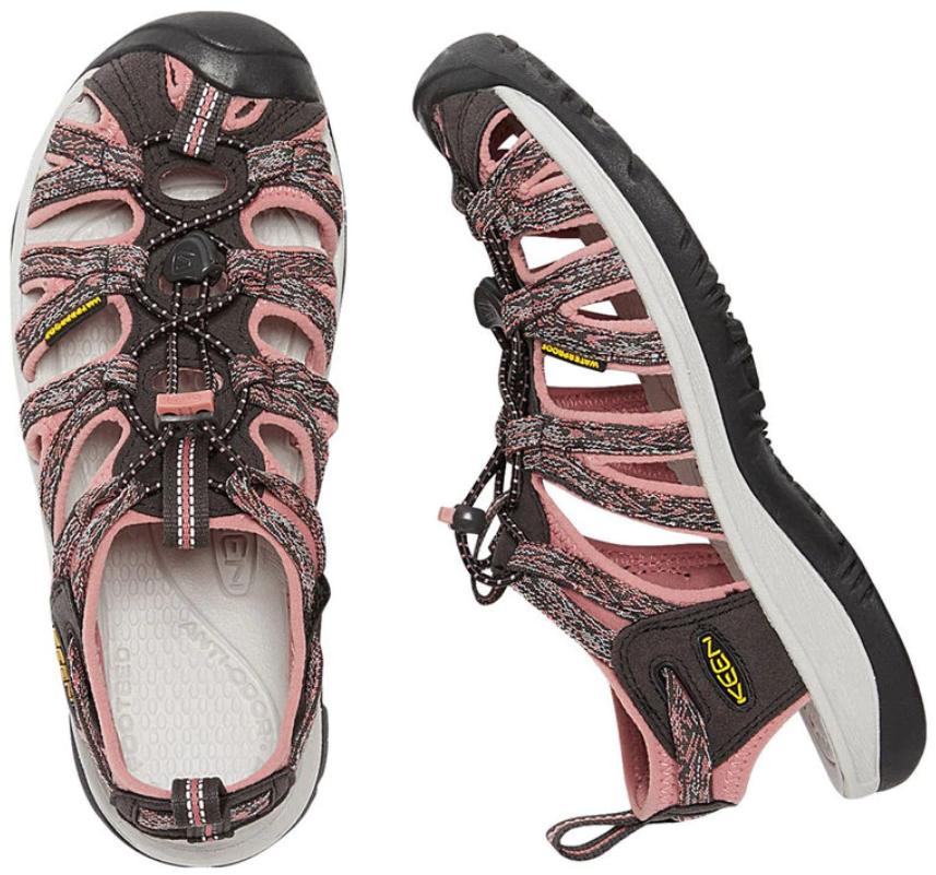 Keen Whisper Size 7 M (B) EU 37.5 Women's Sport Sandals Shoes Raven / Rose Dawn