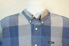 Chaps Ralph Lauren Midweight Short Sleeve Button-Front Shirt, Men's XL B111 - $10.67