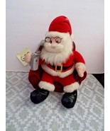 Holiday Time Cell Phone Santa Claus, Animated PLush - $19.99