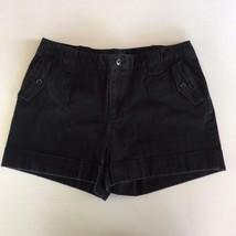 Banana Republic Womens Size 12  Martin Fit Black cuffed Shorts Dress or ... - $18.44