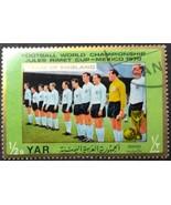 Mexico 70 Team England Yemen Postage Stamp - $0.99