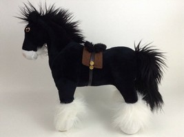 "Brave Angus Black Horse Plush Lg Jumbo 14""X17"" Stuffed Toy Disney Parks ... - $22.72"