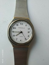 Caravelle men's quartz watch stainless steel band - $13.09