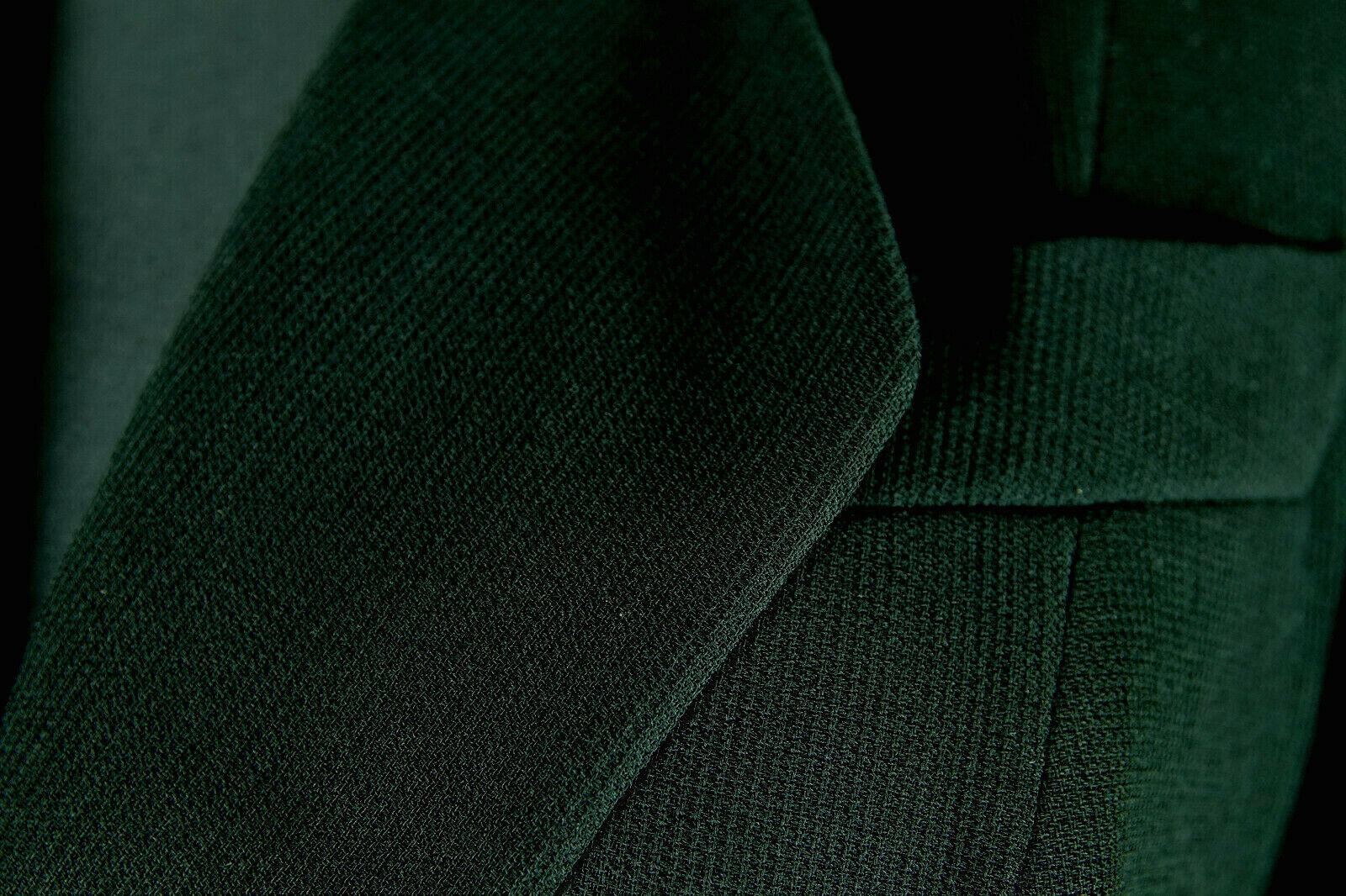 MANI Vtg Women's Double-Breasted Black Ribbed Jacket S-M Armani Diffusion Blazer