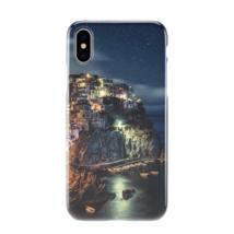 Village On Cliff Night Light Design iPhone Galaxy Phone Case - $11.99