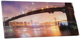 "Pingo World 1218PXVDA4Y ""Moises Levy Brooklyn Bridge Pano"" Gallery Wrapp... - $53.41"