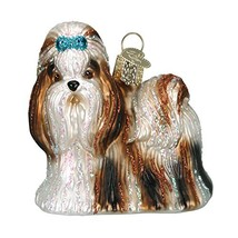 Old World Christmas Ornaments: Shih Tzu Glass Blown Ornaments for Christ... - $11.33